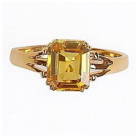 Astrological Stone Pukhraj Ring Original Certified Stone Yellow Sapphire Ring By Jaipur Gemstone