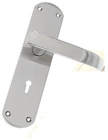 Secure Home Door Handle Set Metal Ss Finish With Double Stage Lock 3 Keys