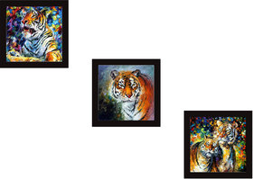 Kartik Digital Print 3 Panel Wall Decor Wall Art Wooden Frame Painting For Home, Office Gift(9X9 Inches)