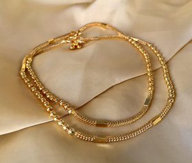 Abdesigns Dailywear Gold Plated Anklet For Women