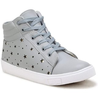 Clymb 7607 Grey Casual Sneakers For Women's