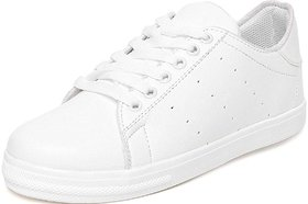 Clymb Ls-5 White Casual Sneakers For Women's