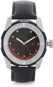 Fastrack Men's Round Dial Black Metal Strap Stylish Watch 3099Sl06