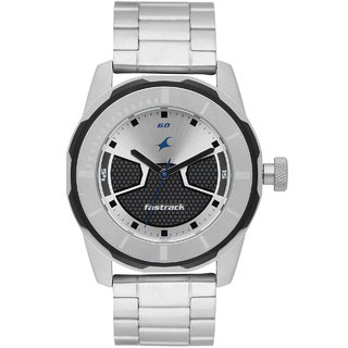 Fastrack Round Silver Metal Men&Boy Casual Analog Watch (3099Sm02)