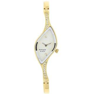 Titan Women's 9710Ym01 Golden Chain Elegant Watch