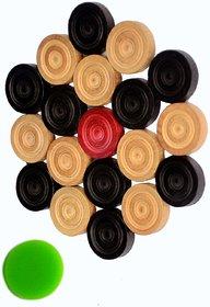 Aari Wood Carrom Coin With 1 Striker Board Game