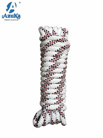 Azuka Static Type A Kernmantle Polyester Rope 10Mm X 5 Meter (White Red) (10Mmx5M)