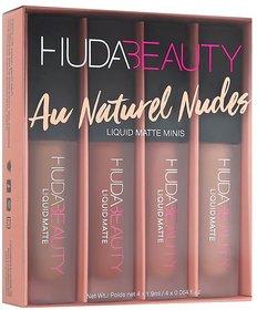 Huda Beauty Liquid Matte Mins Lipstick Nude Love Set Of 4 Lipstick In Lipstick Tavish