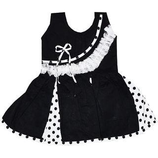Dakshan Collections Self Design Cotton Frocks Girls