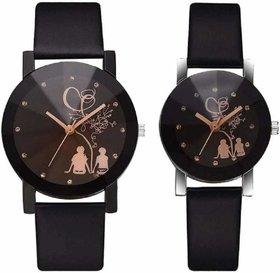 Couple Stylish Spire Glass Belt Quartz Analog Watch Pd-11