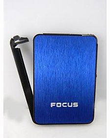 Focus Ultra Thin Cigarette Case With Inbuilt Lighter -Pia International