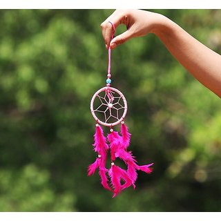 Pink Car Dream Catcher 100 Original And Very Rare Collection Bymake In India - Pick Use - Soilmade