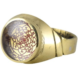 Pack of 1 Ashtadhatu Brass Gold Shree Yantra Ring