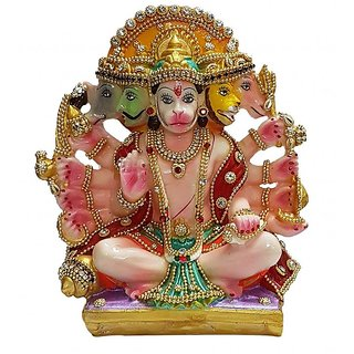 Panchmukhi Hanuman Idol, 100 Original And Very Rare Collection ByMake In India - Pick Use - Soilmade
