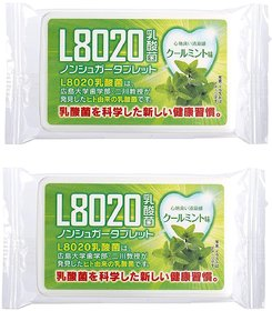 Doshisha L8020 Anti Bacteria Dental Care Tablets, Mint Flavor, Made in Japan, Pack of 2, 9gms Each