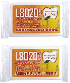 Doshisha L8020 Anti Bacteria Dental Care Tablets, Lemon Flavor, Made in Japan, Pack of 2, 9gms Each