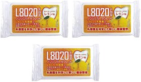 Doshisha L8020 Anti Bacteria Dental Care Tablets, Lemon Flavor, Made in Japan, Pack of 3, 9gms Each