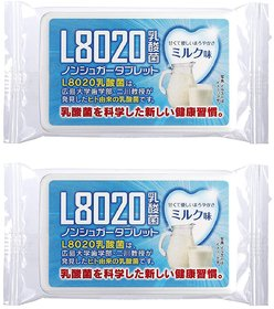 Doshisha L8020 Anti Bacteria Dental Care Tablets, Milk Flavor, Made in Japan, Pack of 2, 9gms Each