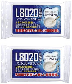 Doshisha L8020 Anti Bacteria Dental Care Tablets, Yogurt Flavor, Made in Japan, Pack of 2, 9gms Each