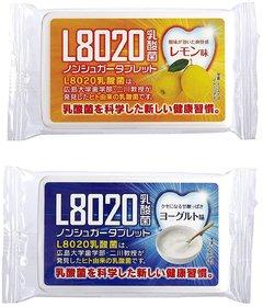 Doshisha L8020 Anti Bacteria Dental Care Tablets, Lemon and Yogurt Flavor, Made in Japan, Set of 2, 9gms Each