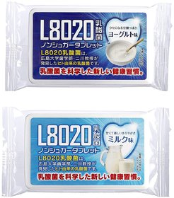 Doshisha L8020 Anti Bacteria Dental Care Tablets, Milk and Yogurt Flavor, Made in Japan, Set of 2, 9gms Each