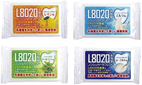Doshisha L8020 Anti Bacteria Dental Care Tablets, Min, Lemon, Milk and Yogurt Flavor, Made in Japan, Set of 4, 9gms Each