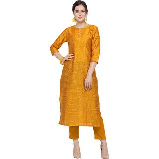 Elora Cotton Silk Solid Kurti For Women