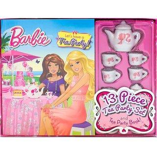 Barbie Lets Have A Tea Party Book Set 13 Piece