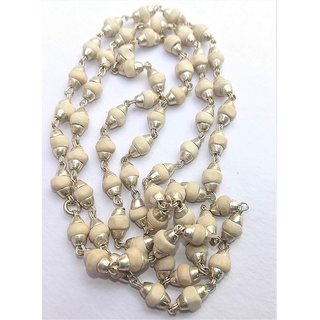 White Tulsi Golden Cap Mala 100 Original And Very Rare Collection ByMake In India - Pick Use - Soilmade