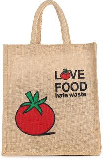 Trendy Trotters (Jute Fabric), Inner Vinyl Bags For Shopping, Lunch Boxes, Vegetables, Multipurpose- Tamoto Print
