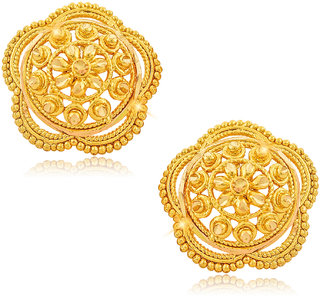 Vighnaharta Traditional Daily Wear Gold Plated Alloy Stud Earring For Women And Girls