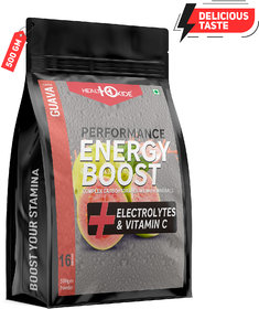 HealthOxide Energy Boost Extra Power Energy Drink  (500 g, Guvava Flavored)