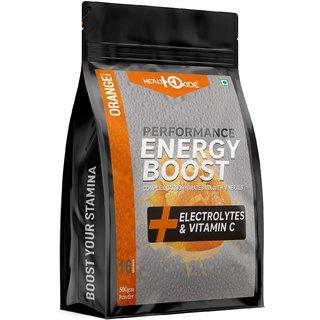 HealthOxide Energy Boost Extra Power Energy Drink  (500 g, Orange Flavored)