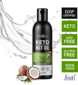 HealthOxide MCT Oil Coconut Unsweetened Keto Diet Weight Management Supplement, 250 ml