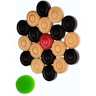 Wood Carrom Coin With 1 Striker Board Game