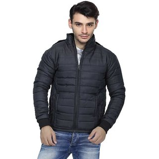 Black Bomber Jacket For Men By Ajeraa