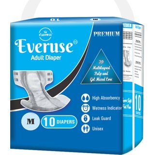 Everuse Adult Diaper - M (10 Pieces)