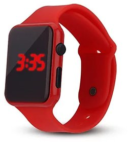 Farp Digital Led Watch Rubber Type Red Colour Boys And Girls Watch Kids Watch