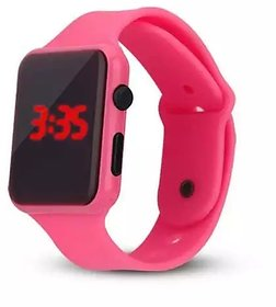 Farp Digital Led Watch Rubber Type Pink Colour Girls Watch Kids Watch