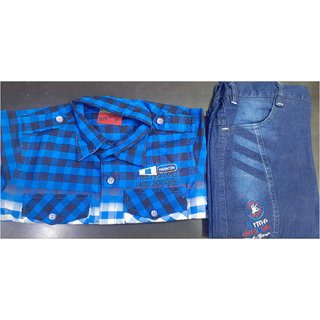 Boys Baba Suit (Elastic Jeans And Shirt)