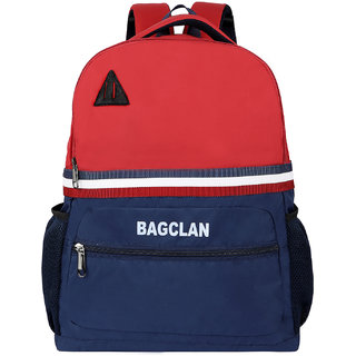 Bagclan Unisex Red School Bag / College Backpack With Multi Pockets