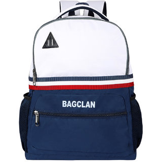 Bagclan Unisex White School Bag / College Backpack With Multi Pockets
