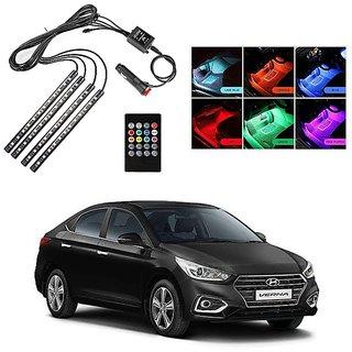Autoright Atmosphere Light Led Wireless Remote Music Controller Car Interior Strip Light Lamp Kit For Hyundai Verna