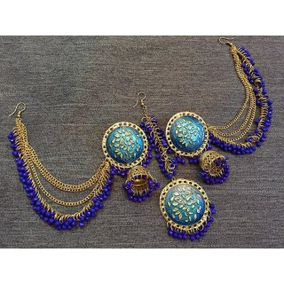 Trendy Earings Jhumki With Maang Tika For Women And Girls