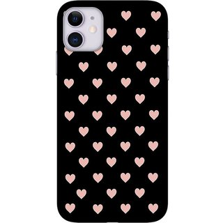 Onhigh Designer Printed Hard Back Cover Case For Iphone 11, Hearts Polka