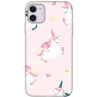 Onhigh Designer Printed Hard Back Cover Case For Iphone 11, Pink Flying Dreams