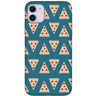 Onhigh Designer Printed Hard Back Cover Case For Iphone 11, Pieces Of Pizza