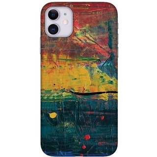 Onhigh Designer Printed Hard Back Cover Case For Iphone 11, Colourful Painting Art