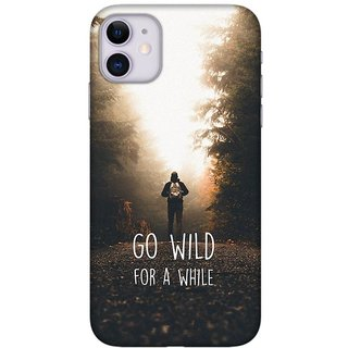 Onhigh Designer Printed Hard Back Cover Case For Iphone 11, Go Wild