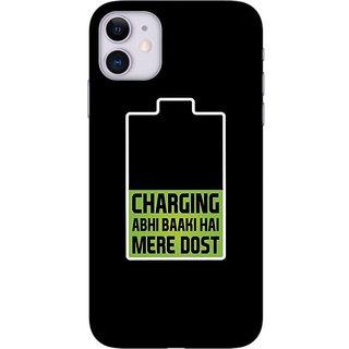 Onhigh Designer Printed Hard Back Cover Case For Iphone 11, Charging Baaki Hai